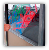 commercial anti grafitti security protection window films and tinting